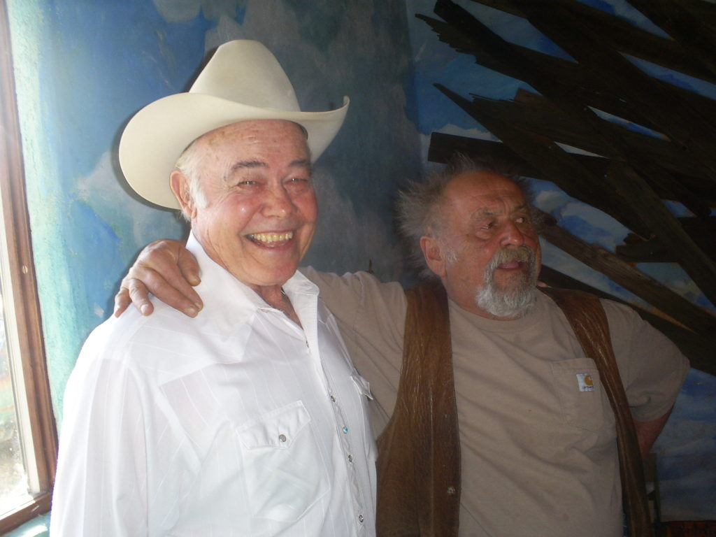 Joe Brown and the late writer Jim Harrison in Patagonia.