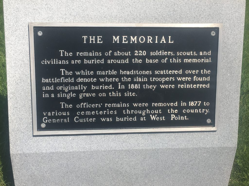 Placard at 7th Cavalry Memorial